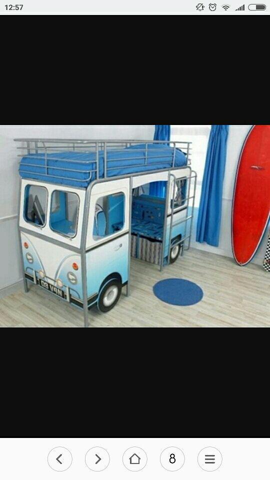 Cama alta con escritorio ( furgoneta, autobus) de segunda mano por ...