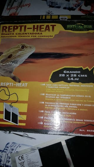 Manta Termica 7 W  terrario,reptil erizos,gueckos,tortuga