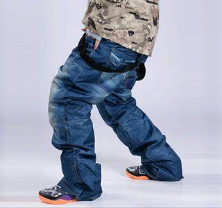 Pantalón esquí/snow efecto jeans
