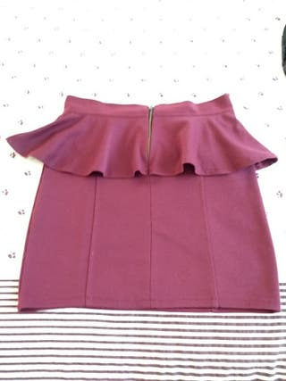minifalda Burdeos