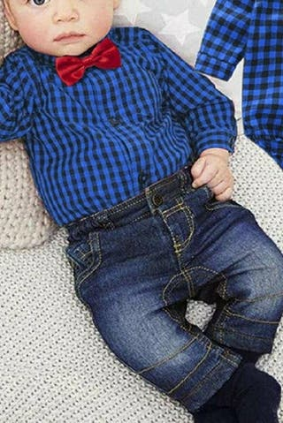 Camisa cuadros azul y roja bebe/niño talla 80cm