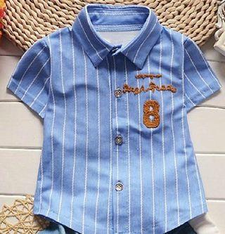 Camisa azul y camisa amarilla bebe/niño talla 80cm