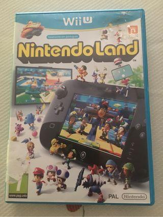 Juego wii U Nintendo land totalmente nuevo.