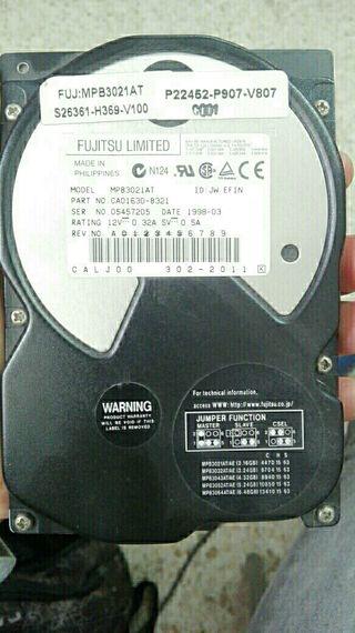 Fujitsu Limited MPB3021AT (1998)