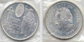 Moneda 2000 pesetas plata 1999 Xacoveo