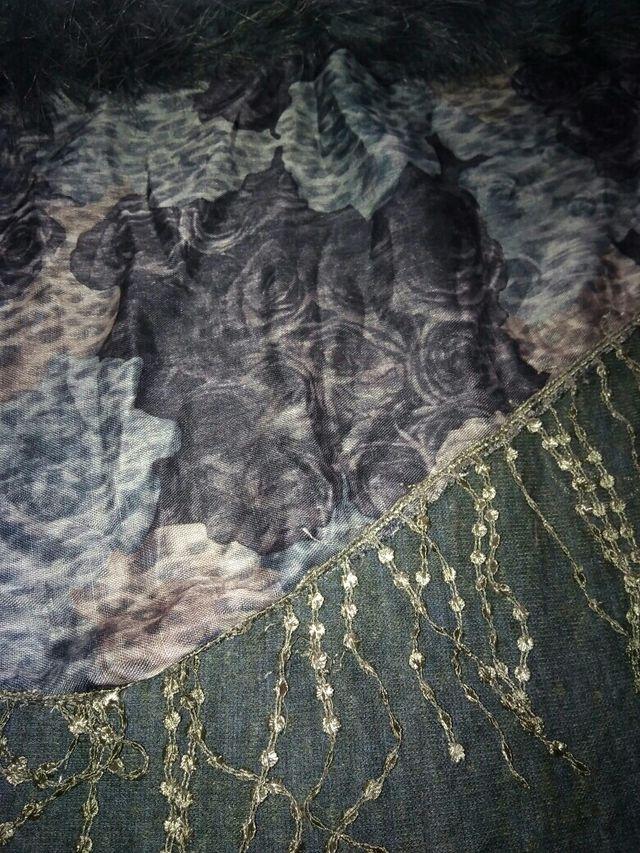 Pasmina capa reversible gris