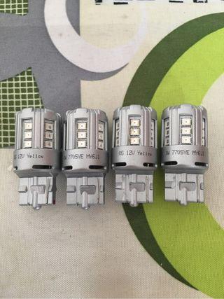 4 bombillas Intermitentes led OSRAM T20