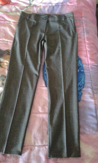 pantalón de tela calentita para mujer talla 44