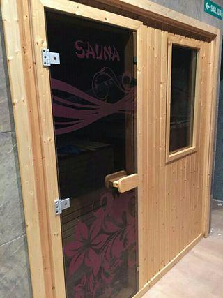 Sauna medidas 2m ancho y de fondo 3,5