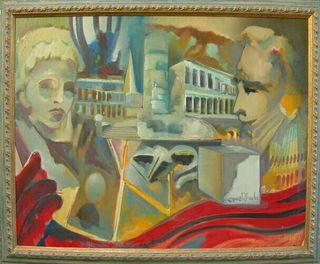 cuadro lienzo Manuel Vázquez ribada
