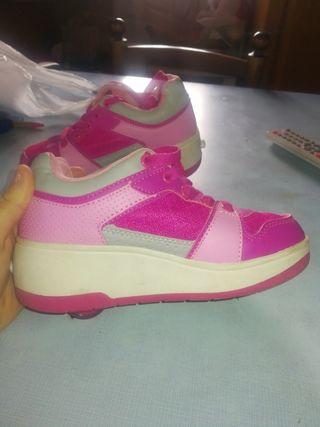 zapatillas con ruedas niña n°31