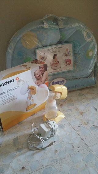 extractor leche materna y cojin lactancia