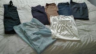 Lote de pantalones + 2 camisones de premamá.