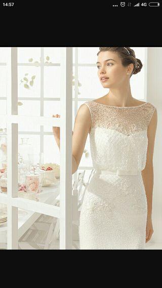 vestido novia aire barcelona