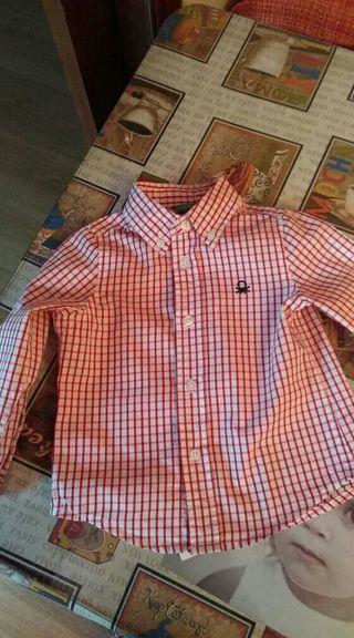 camisas d benetton de 12 meses