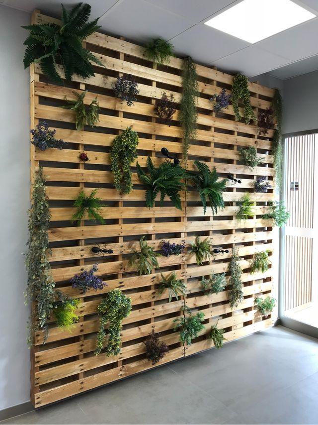 Panelado de pared con palets de segunda mano por 35 en - Forrar pared con palets ...
