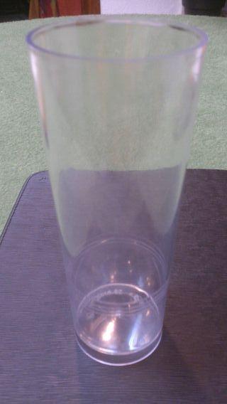 basos tubo plástico
