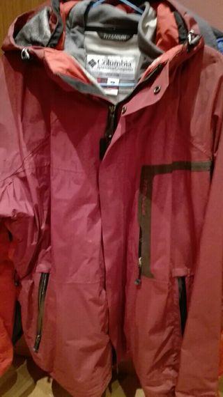 chaqueta Columbia Titanium anaranjada talla L