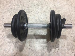 Pesas de gimnasio (mancuernas) de 1, 2 y 5 kg