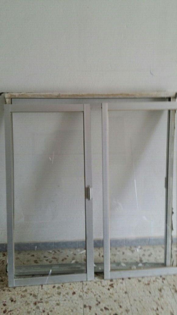 Ventana aluminio gris con marco de segunda mano por 12 for Ventanas aluminio gris antracita