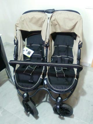 Silla de paseo silla ligera doble carrito gemelar