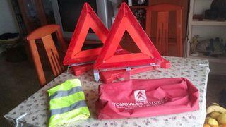 pack de 2 triangulos regalo chaleco