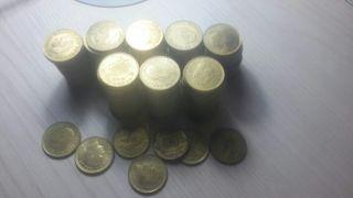 monedas peseta rubias