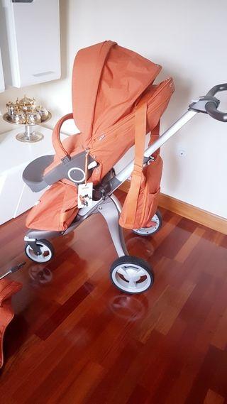Carro bebé. Stokke Xplory en color naranja