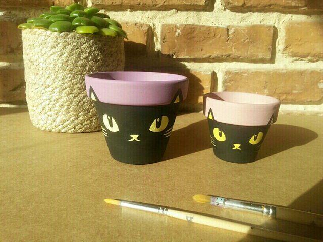 Macetas gato