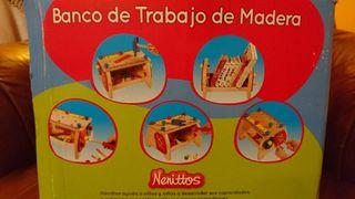 Banco Trabajo madera Nenittos de Juguettos