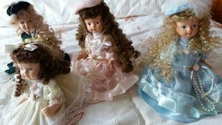 muñecas de porcelana unid 6e todas 20