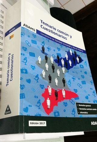 Libro Oposiciones Sanidad temario común Adams