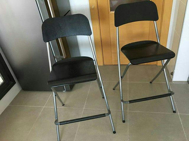 Sillas Altas Plegables De Ikea De Segunda Mano Por 45 En