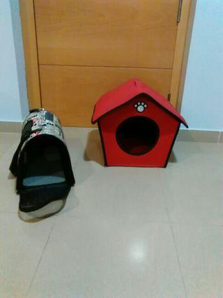 Casita y transporting para animales