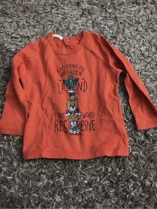 Camiseta bebe talla 6-9meses