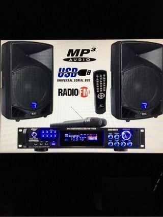 Equipo 2000W karaoke mp3 usb