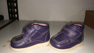 Zapatos de piel bebe n°18