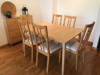 Juego mesa + 6 sillas