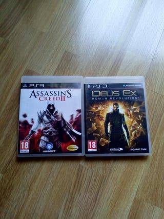 Assassin'S Creed II y Deux Ex ,Ps3