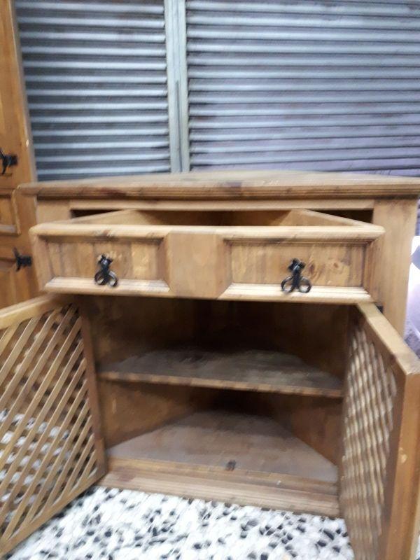 Mueble rustico esquinero recibidor de segunda mano por 125 - Mueble recibidor rustico ...