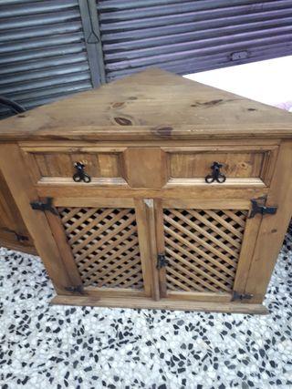 Mueble rustico esquinero recibidor de segunda mano por 125 en santa perp tua de mogoda en wallapop - Mueble recibidor rustico ...