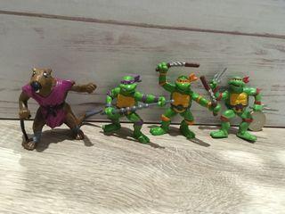 Figuras pvc tortugas ninja