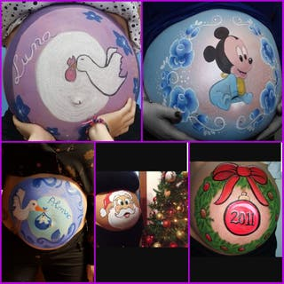 Belly painting y regalos englobados