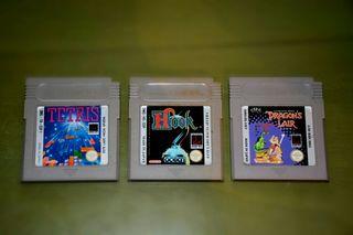 Tres juegos de Gameboy Originales