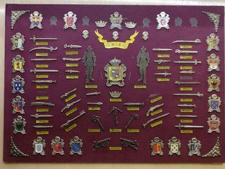 cuadro expositor motivo escudor y armas
