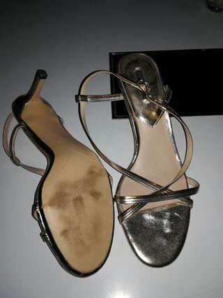 Dorada De Mujer Y Sandalias FiestaTiras Segunda Mano plata Cobre BerdWoCx