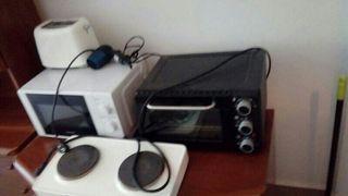 microondas y mini horno