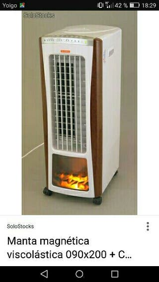 Estufa calor/ humidificador/ionizador con mando a
