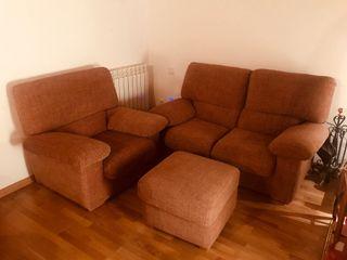 Sofa, sillon y puf
