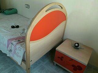 estructura Cama + armario + mesa de noche